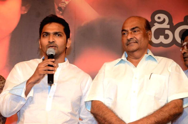 Actors Vaibhav, Kodandarami Reddy during the launch of telugu film Anamika audio release function held at Hyderabad - Vaibhav and Kodandarami Reddy