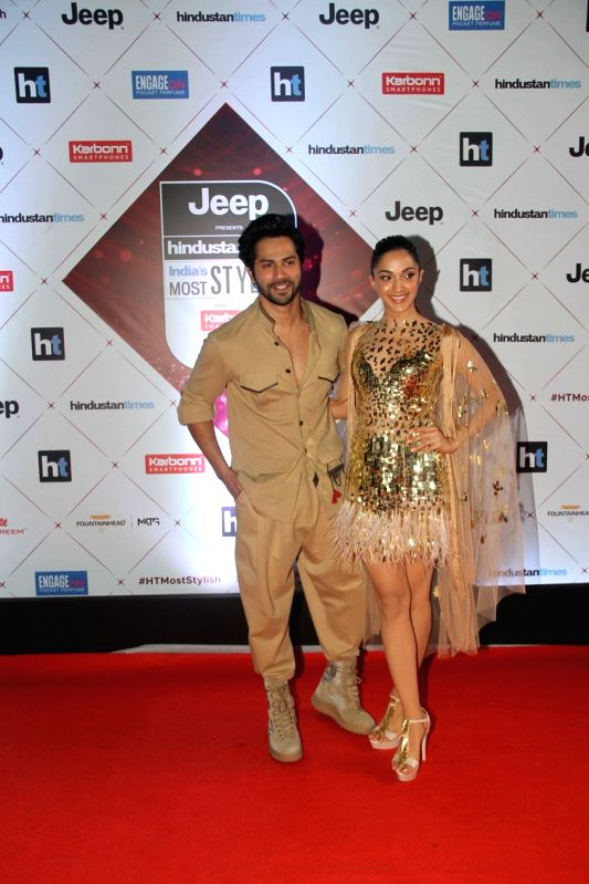 "Actors Varun Dhawan and Kiara Advani at the red carpet of ""HT India's Most Stylish Awards"" in Mumbai on Jan 24, 2018. - Varun Dhawan and Kiara Advani"