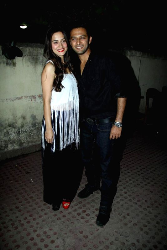 Actors Vatsal Seth and Sanjeeda Sheikh during the premiere of Star Plus show `Ek Hasina Thi` in Mumbai on Monday, April 14, 2014. - Vatsal Seth and Sanjeeda Sheikh
