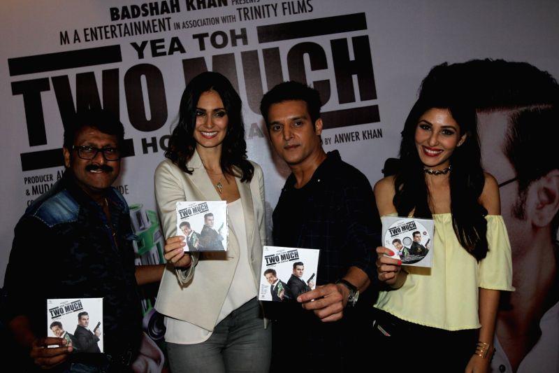 Actors Vijay Patkar, Pooja Chopra, Jimmy Shergill and Bruna Abdullah during the music launch of film Yea Toh Two Much Ho Gayaa in Mumbai, on August 6, 2016. - Vijay Patkar, Pooja Chopra, Jimmy Shergill and Bruna Abdullah