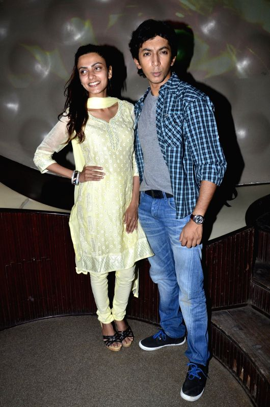Actors Yoshika Verma and Anshuman Jha during the music launch of  film `Yeh Hai Bakrapur`  in Mumbai on 21st April 2014 - Yoshika Verma and Anshuman Jha