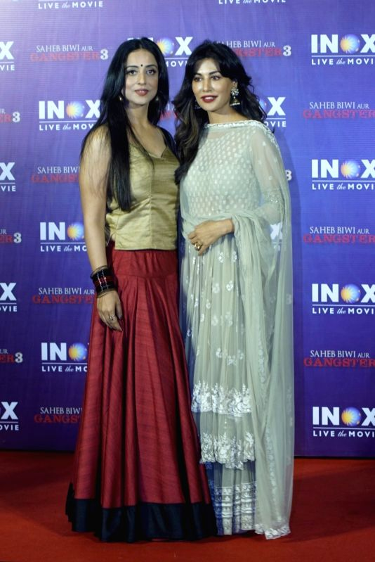 "Actreses Mahie Gill and Chitrangada Singh at the promotion of their upcoming film ""Saheb Biwi Aur Gangster 3"" in Mumbai on July 23, 2018. - Chitrangada Singh"