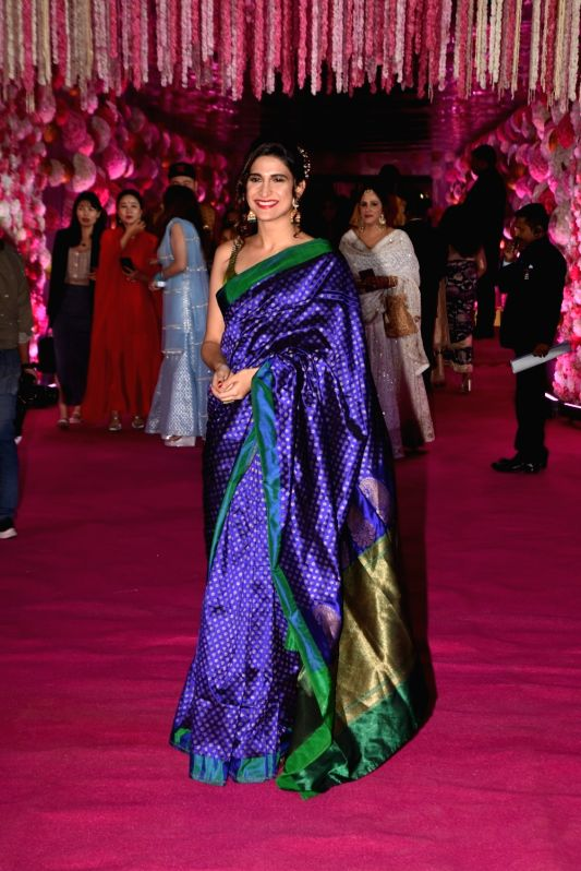 Actress Aahana Kumra at Azhar Morani and Tanya Seth's wedding reception in Mumbai on Feb. 9, 2019. - Aahana Kumra and Tanya Seth