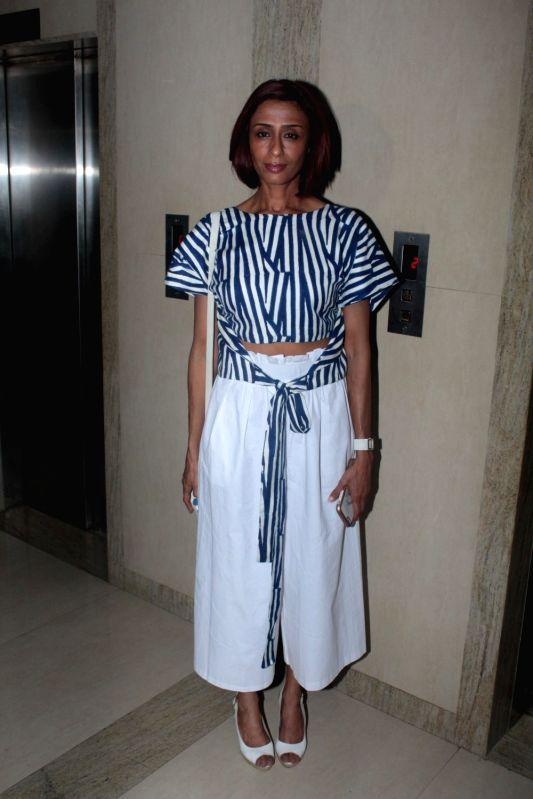 Actress Achint Kaur during the screening of Punjabi short film Khoon Aali Chithi in Mumbai on April 24, 2017. - Achint Kaur