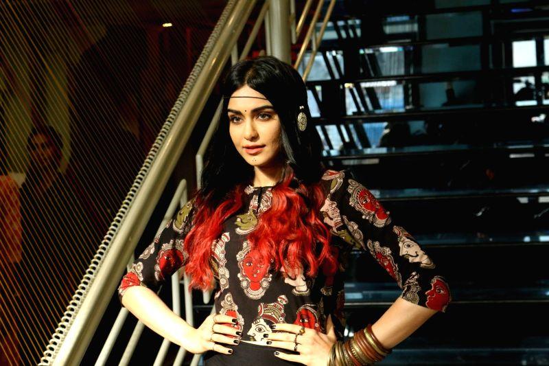 Actress Adah Sharma during the launch of Craftsvilla's new brand Anuswara, in Mumbai on April 19, 2017. - Adah Sharma