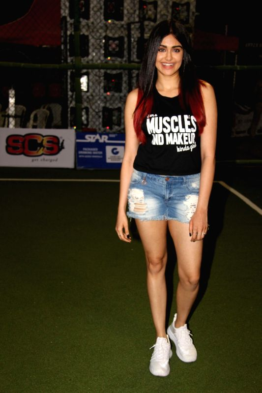 Actress Adah Sharma during the launch of second edition of Super Soccer Tournament (SST) in Mumbai, on May 29, 2017. - Adah Sharma