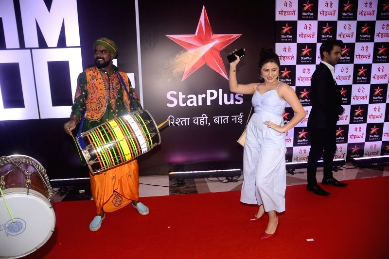"Actress Aditi Bhatia during the celebration of her television show ""Yeh Hai Mohabbatein"" completes 1500 episodes in Mumbai on July 25, 2018. - Aditi Bhatia"