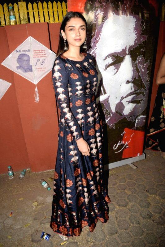 Actress Aditi Rao Hydari at Kaifi Azmi's centenary celebrations in Mumbai on Jan 10, 2019. - Aditi Rao Hydari