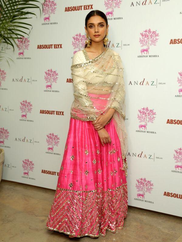 Actress Aditi Rao Hydari at the launch of Phiroza by designer Abhinav Mishra in New Delhi on July 7, 2018. - Aditi Rao Hydari and Abhinav Mishra