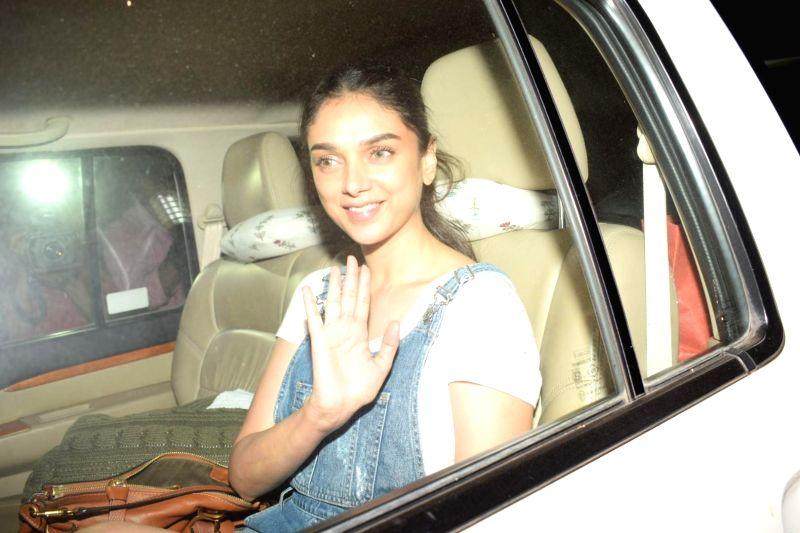 """Actress Aditi Rao Hydari at the special screening of film """"October"""" in Mumbai on April 12, 2018. - Aditi Rao Hydari"""