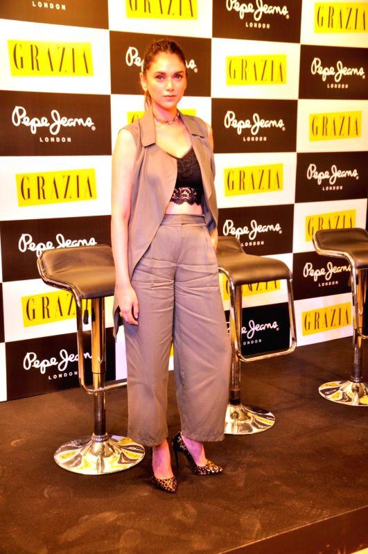 Actress Aditi Rao Hydari during the launch of Grazia magazine`s June issue, in Mumbai, on June 2, 2016. - Aditi Rao Hydari