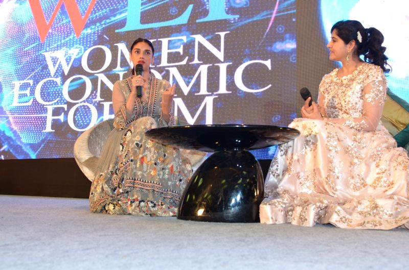 Actress Aditi Rao Hydari during Women Economic Forum 2017 in New Delhi on May 9, 2017. - Aditi Rao Hydari