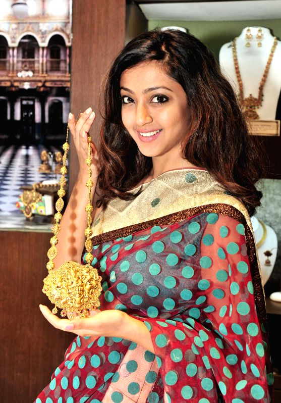 Actress Aindrita Ray during inauguration of a Antique Jewellery Exhibition in Bangalore on Aug 7, 2014. - Aindrita Ray