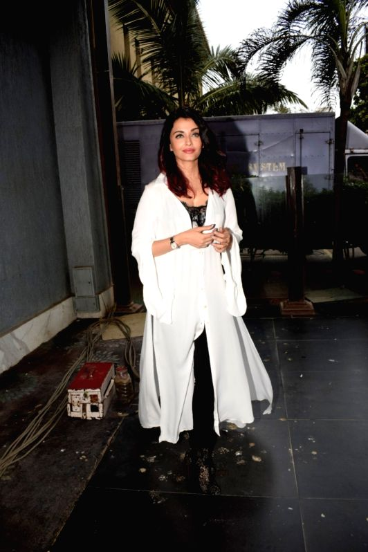 "Actress Aishwarya Rai Bachchan during a media interaction to promote her upcoming film ""Fanney Khan"" in Mumbai on July 31, 2018. - Aishwarya Rai Bachchan and Fanney Khan"