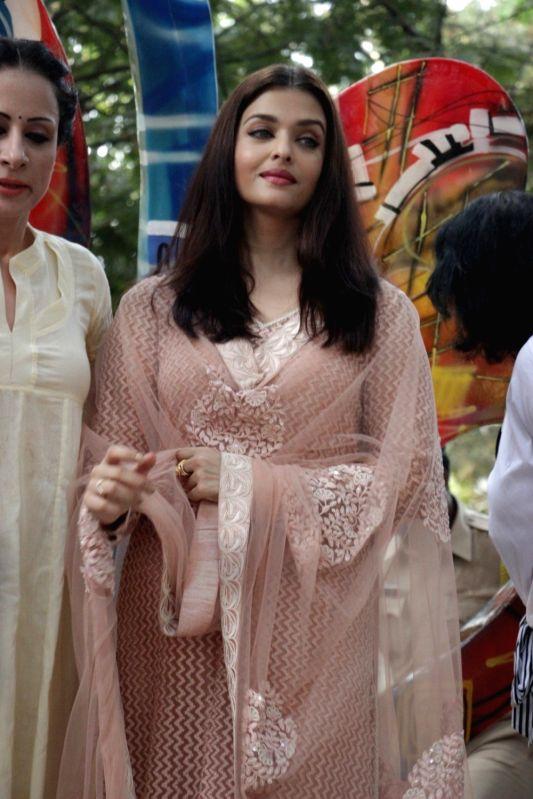 Actress Aishwarya Rai spotted during the inauguration of Paradise Garden in Mumbai on May 8, 2017. - Aishwarya Rai