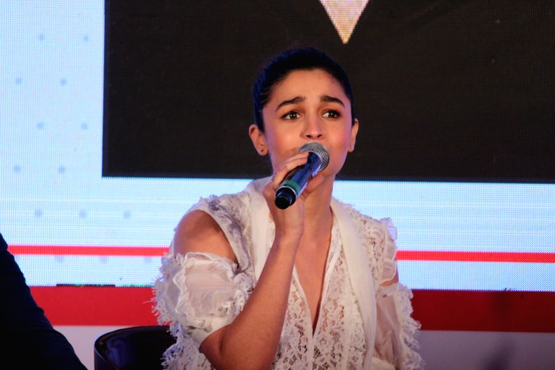 "Actress Alia Bhatt at ""Jio Mami Film Mela"" in Mumbai on Oct 7, 2017. - Alia Bhatt"