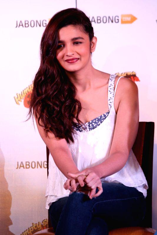 Actress Alia Bhatt during a programme organised to promote her upcoming film `Humpty Sharma Ki Dulhania` in New Delhi on June 27, 2014. - Alia Bhatt
