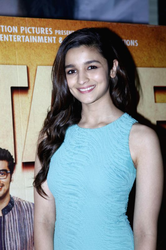 Actress Alia Bhatt interact with fans during the visit to different theatres after the release of movie 2 States in Mumbai on 21st April 2014