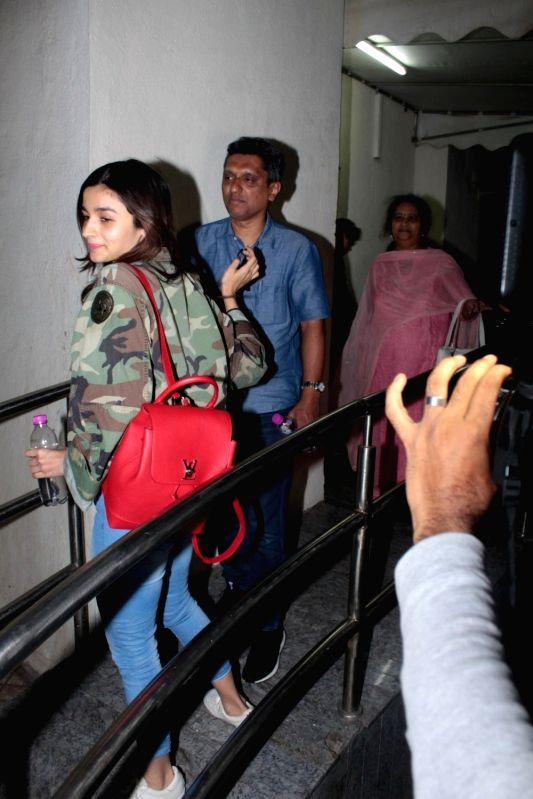 Actress Alia Bhatt spotted at Juhu PVR in Mumbai on April 13, 2017. - Alia Bhatt