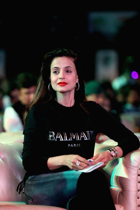 Actress Ameesha Patel during a programme in Mumbai on Jan 31, 2018. - Ameesha Patel