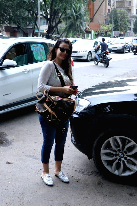 Actress Ameesha Patel seen at a salon in Juhu, Mumbai's Bandra on July 20, 2018. - Ameesha Patel