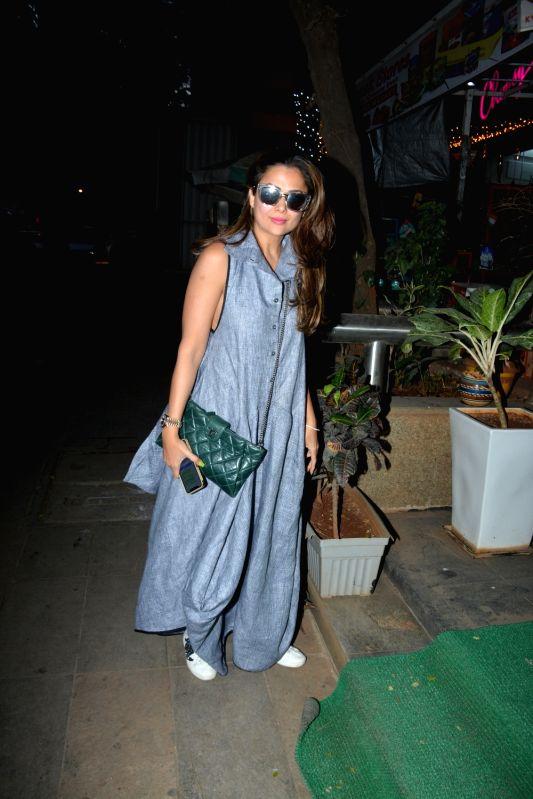 Actress Amrita Arora spotted at Muah Salon in Bandra in Mumbai on Feb 9, 2019. - Amrita Arora
