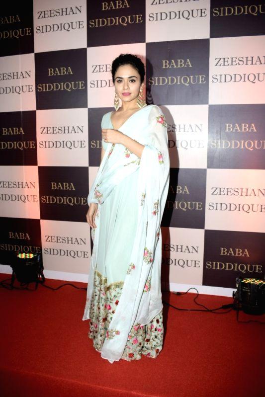 Actress Amruta Khanvilkar at politician Baba Siddique's iftar party in Mumbai on June 10, 2018. - Amruta Khanvilkar