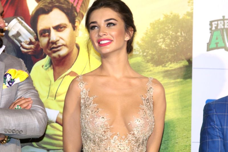 Actress Amy Jackson during the trailer launch of film Freaky Ali, in Mumbai on August 7, 2016. - Amy Jackson