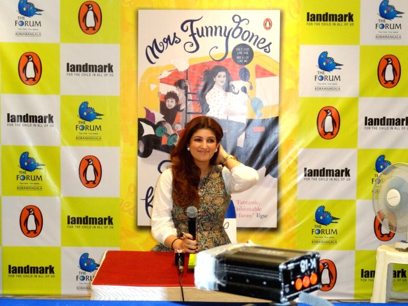 Actress and author Twinkle Khanna during a book reading session of her book `Funnybones` in Bengaluru on Nov. 24, 2015.