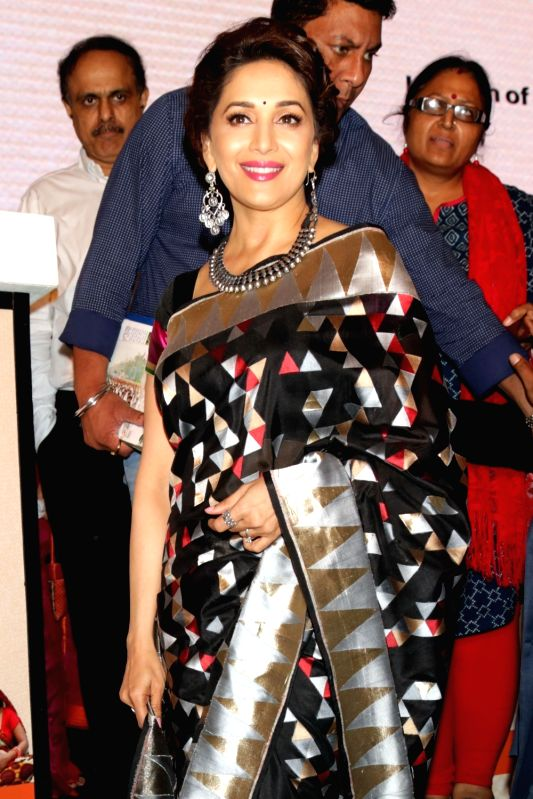 "Actress and brand ambassador of the breastfeeding promotion programme Madhuri Dixit Nene at the launch of the ""MAA- Mother's Absolute Affection"" a nationwide programme to promote ... - Madhuri Dixit Nene"