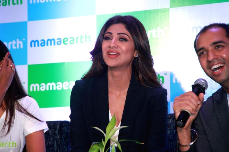 Actress and entrepreneur Shilpa Shetty Kundra during a promotional programme organised in Mumbai on April 19, 2018. - Shilpa Shetty Kundra