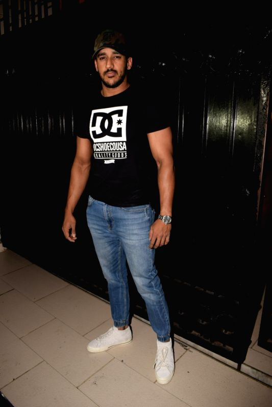 "Actress Anita Hassanandani's husband Rohit Reddy at the producer Ekta Kapoor's party post web series ""The Test case"" screening in Mumbai on Jan 29, 2018. - Anita Hassanandan, Rohit Reddy and Ekta Kapoor"