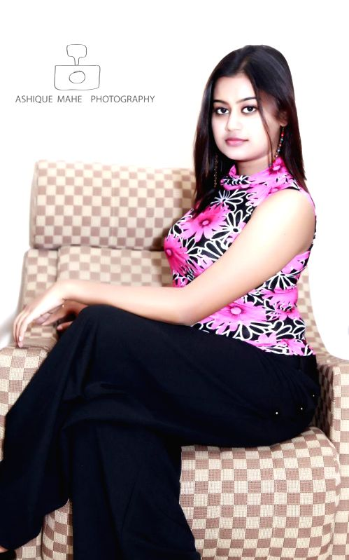 Actress Ansiba during a photo-shoot.