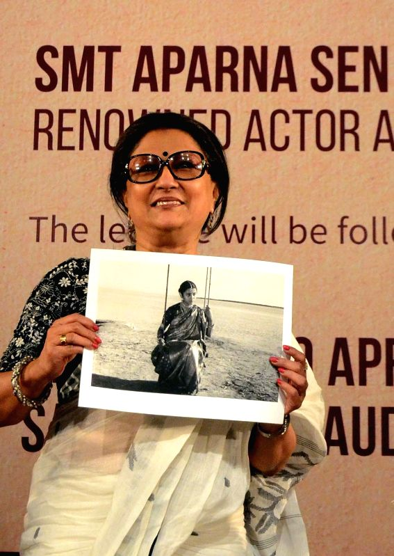 Actress Aparna Sen during Satyajit Ray Memorial Lecture in Kolkata on April 29, 2017. - Aparna Sen