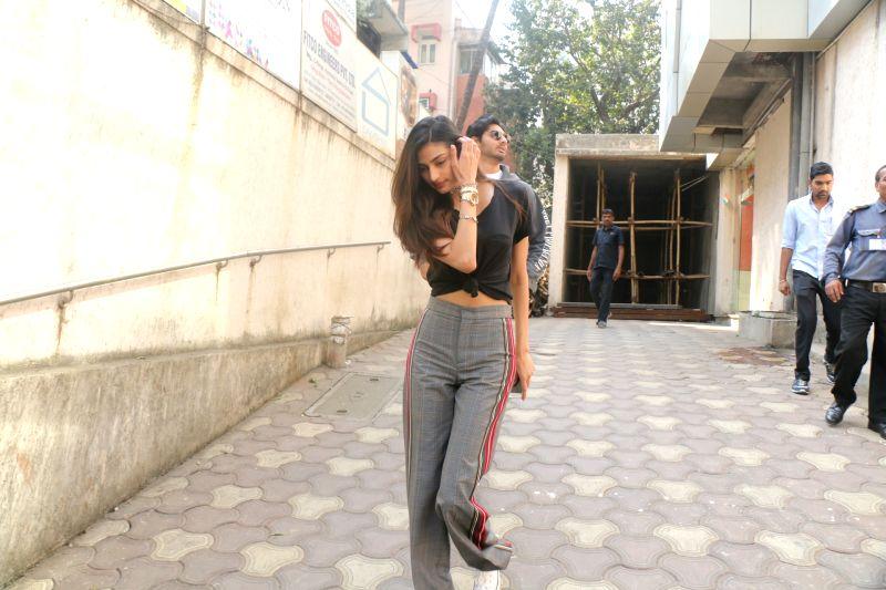 Actress Athiya Shetty and Aahan Shetty seen at Bandra in Mumbai on Jan 30, 2018. - Athiya Shetty and Aahan Shetty