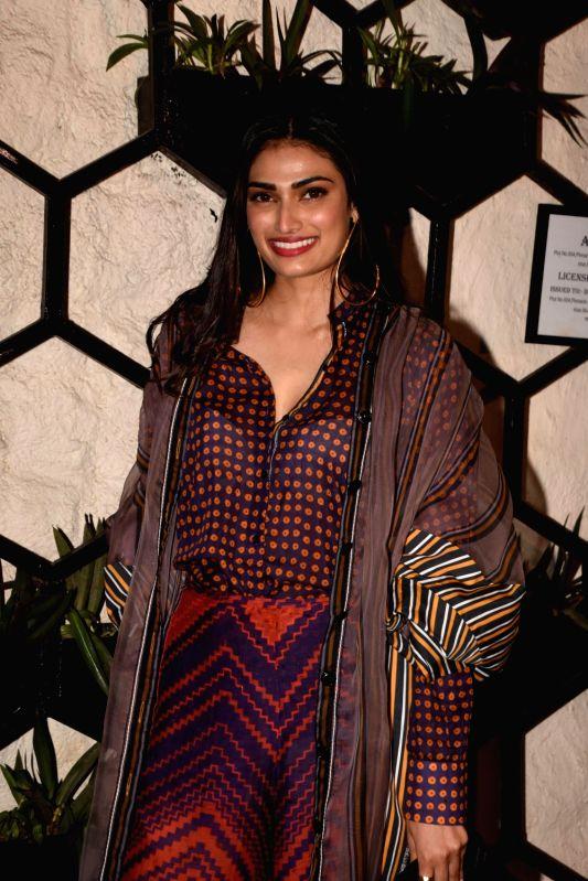 Actress Athiya Shetty at the producer Dinesh Vijan birthday celebration in Mumbai on July 26, 2018. - Athiya Shetty