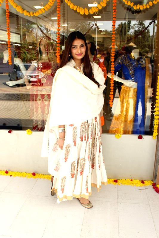 Actress Athiya Shetty during a exhibition in Mumbai. - Athiya Shetty