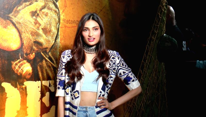Actress Athiya Shetty during the celebrations 20 years completion of film Border, in Mumbai in Mumbai on June 11, 2017. - Athiya Shetty
