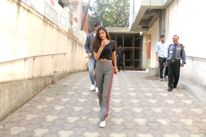 Actress Athiya Shetty seen at bandra in Mumbai on Jan 30, 2018. - Athiya Shetty