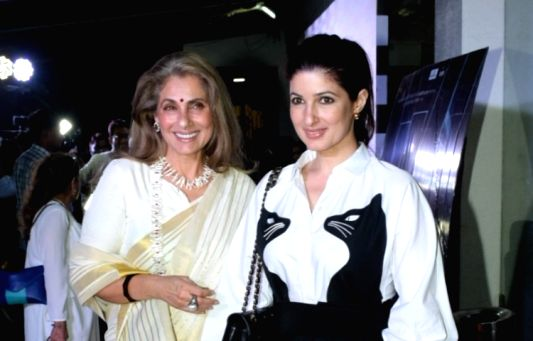 Actress-author Twinkle Khanna with her mother-actress Dimple Kapadia