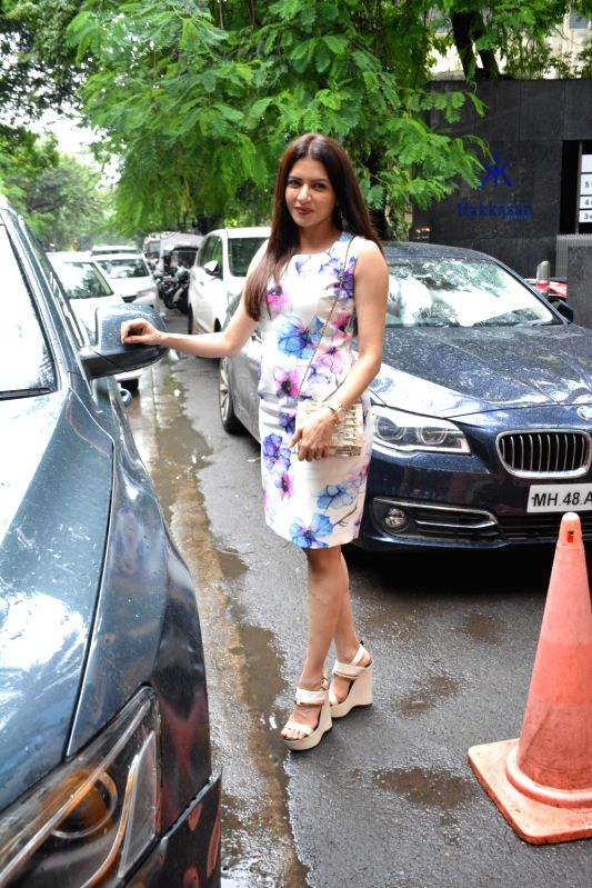 Actress Bhagyashree seen at Mumbai's Bandra on Aug 4, 2018. - Bhagyashree