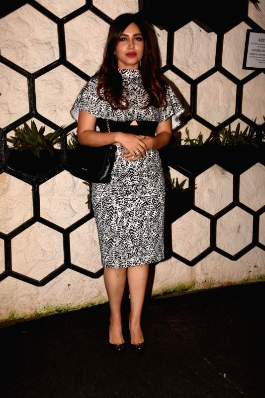 Actress Bhumi Pednekar at the producer Dinesh Vijan birthday celebration in Mumbai on July 26, 2018. - Bhumi Pednekar