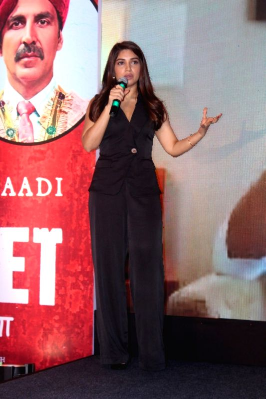 "Actress Bhumi Pednekar during the success press conference of the film ""Toilet: Ek Prem Katha"" in Mumbai on Aug 18, 2017."