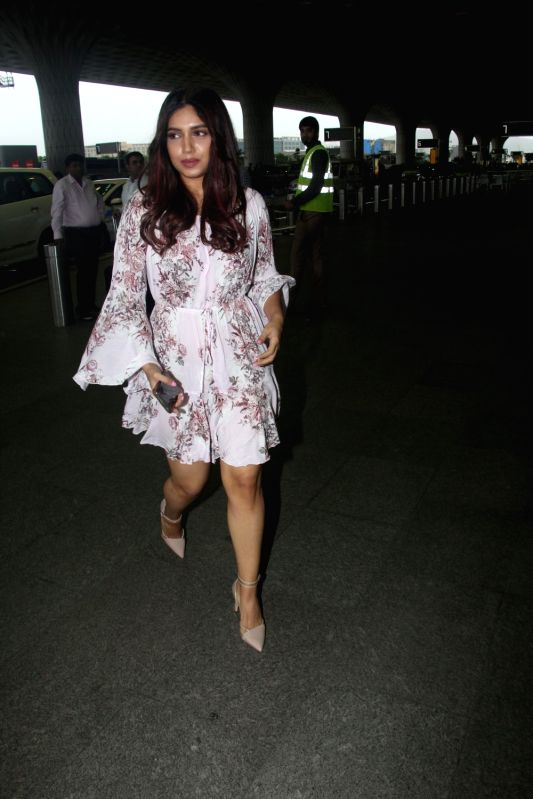 Actress Bhumi Pednekar seen at Chhatrapati Shivaji International Airport in Mumbai on July 23, 2018. - Bhumi Pednekar