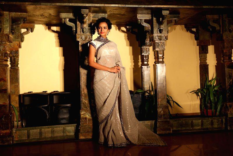 Actress Bidita Bag during the launch of designer Arnab Sengupta's latest Spring-Summer Collection in Kolkata on April 28, 2014.