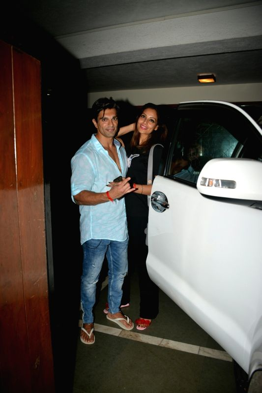 Actress Bipasha Basu along with her husband Karan Singh Grover seen at Mumbai's Bandra on July 29, 2018. - Bipasha Basu and Karan Singh Grover