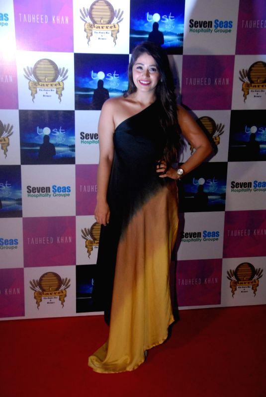 Actress Chandni Panjwani during the birthday party of Television producer Vikas Gupta in Mumbai on May 6, 2017. - Chandni Panjwani and Vikas Gupta