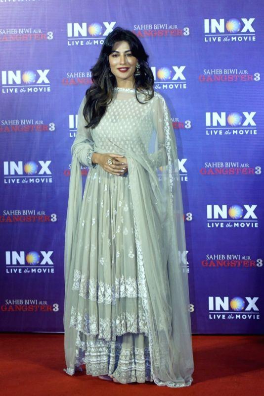 """Actress Chitrangada Singh at the promotion of her upcoming film """"Saheb Biwi Aur Gangster 3"""" in Mumbai on July 23, 2018. - Chitrangada Singh"""