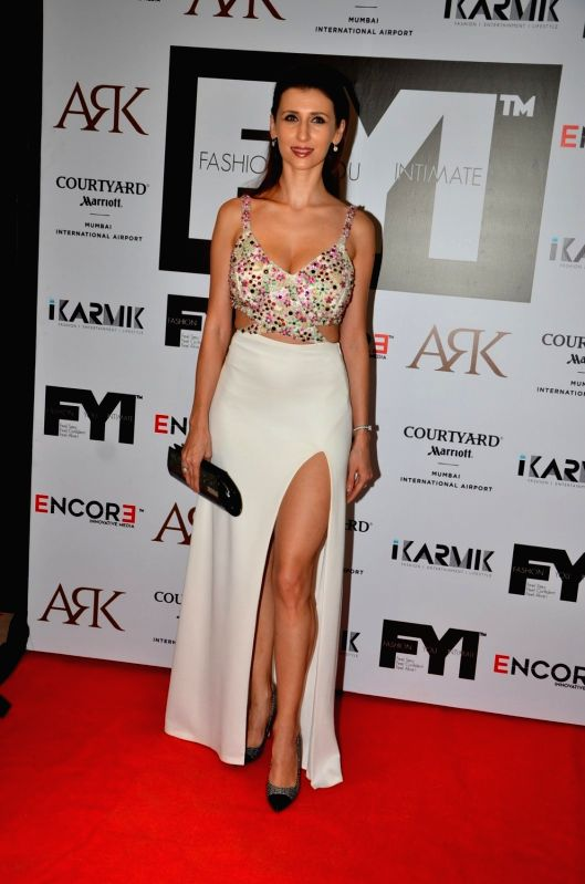 Actress Claudia Ciesla during the launch of FYI Magazine May issue, in Mumbai on May 7, 2016. - Claudia Ciesla