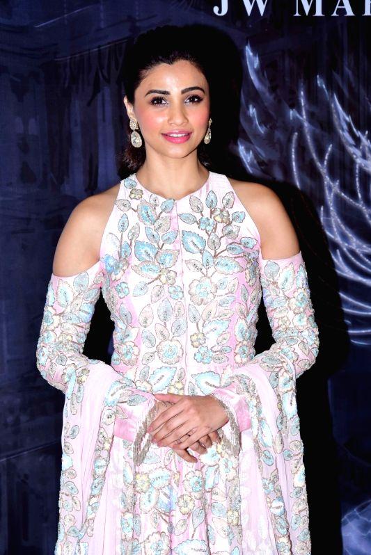 Actress Daisy Shah at the fashion designer Manish Malhotra's Haute Couture 2018 in Mumbai. - Daisy Shah and Manish Malhotra